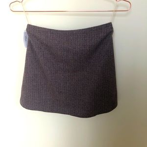 NWT Aritzia Wilfred A-line plaid wool mini skirt